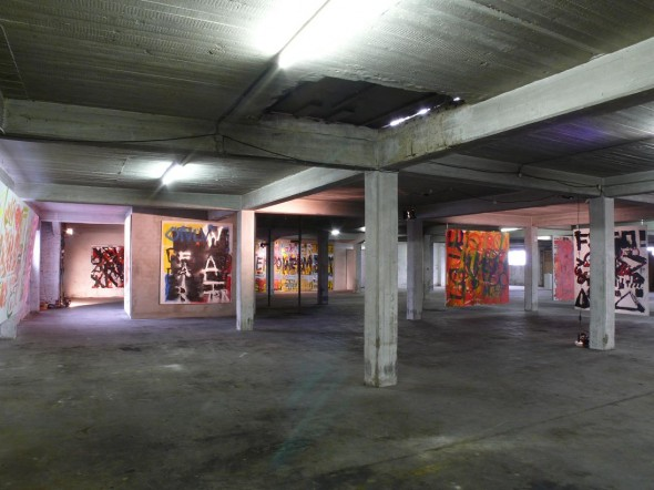 Installationview at Brandshofer Deich, In Between Exhibition 2011