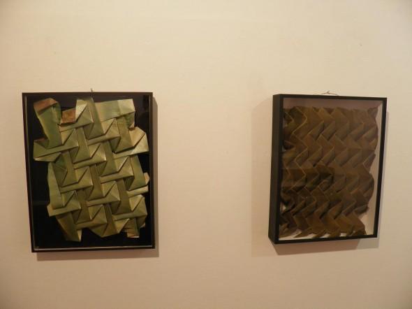 Cubic 5  papier plissé (40x50 cm) - 2012  Cubic 6  papier plissé (40x50 cm) - 2012 folded paper,spray
