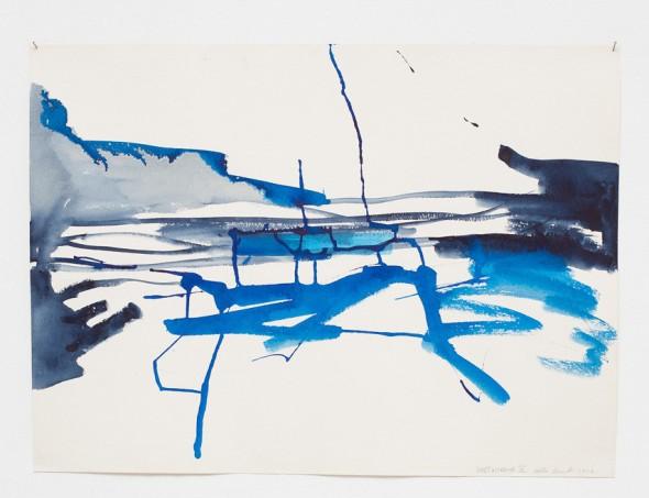 Weltunruhe_X Aquarell auf Fabriano 56x76cm,2012