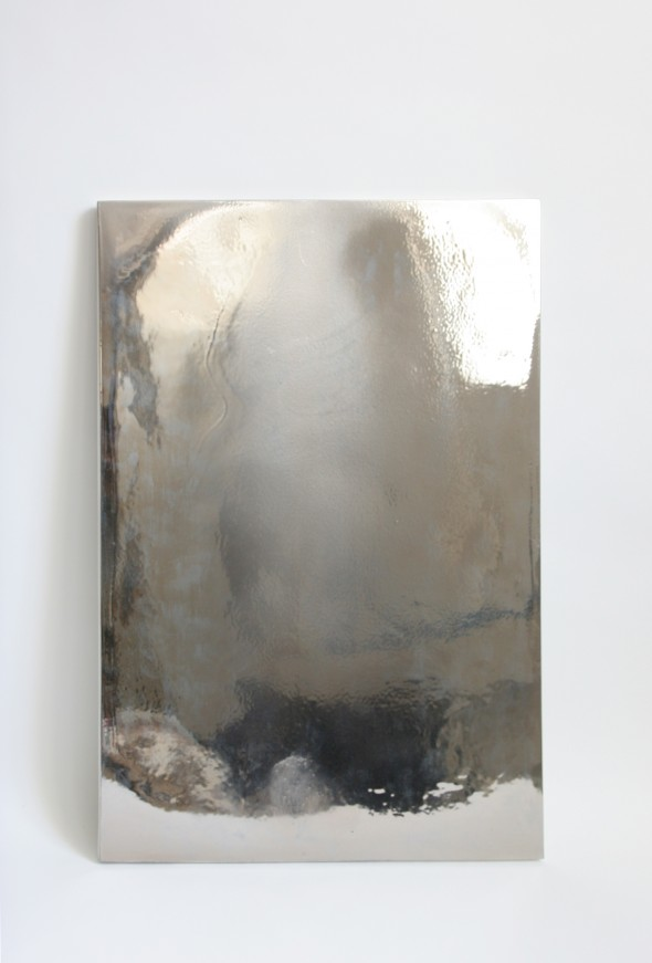 Miroir # 5  CERCCO Genève Porzellan, Glasur + Platinum, 67 x 49,5 x 1,5 cm, 2014