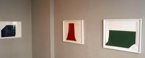 Paperpools Kunstharz auf Fabriano gefaltet/entfaltet 65x70cm, 2013
