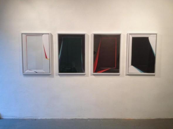 Paperpools Kunstharz auf Fabriano gefaltet/entfaltet 100x70cm, 2015