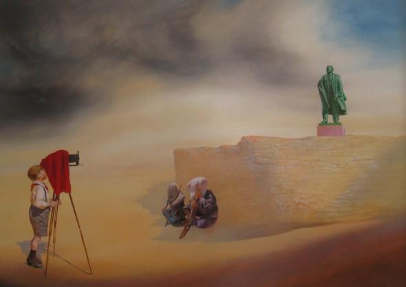 Camera Obscura Öl auf Leinwand, 100cm*140cm, 2011