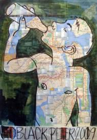 Best Worst Acryl und Ölpastel auf NYC-U-Bahnplan, 82cm*58cm, 2009
