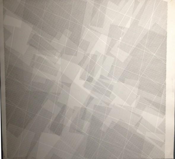 Linien auf Papier, 1980  72x73cm  in Plexiglas gerahmt Signiert auf der Rückseite