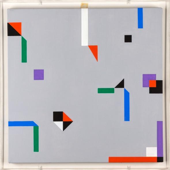 Paolo Ghilardi FSA – 25, 2001 acrilico su tela e teca in plexigkas, 46x46cm