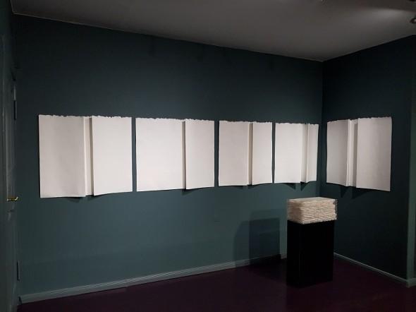"Rudolf zur Lippe Serie ""Falten"" Büttenpapier, ca. 110x80cm, 2017"