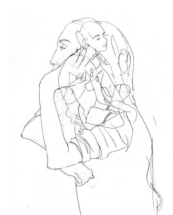 Hugo Dalton The Rehersal Bleistiftzeichnung, ca. 40cm*30cm, 2009
