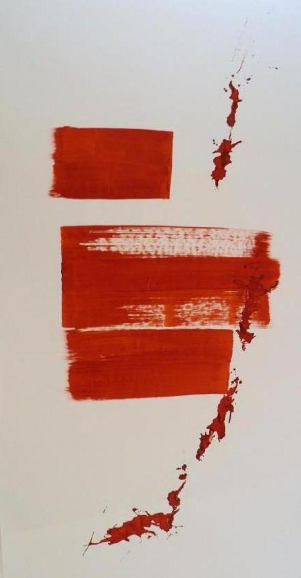 Rudolf zur Lippe Peinture Gestuelle Chinaink on paper, 300*150cm,2012