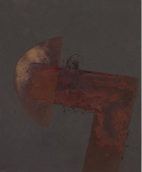 Daniel Lergon Wasser auf pulverisiertem Eisen 160x130cm, 2012