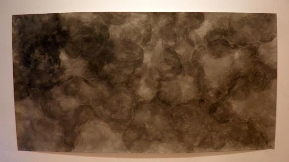 """""""Wolke 2"""" Chinatusche auf Papier, 350x 151 cm, 2012"""
