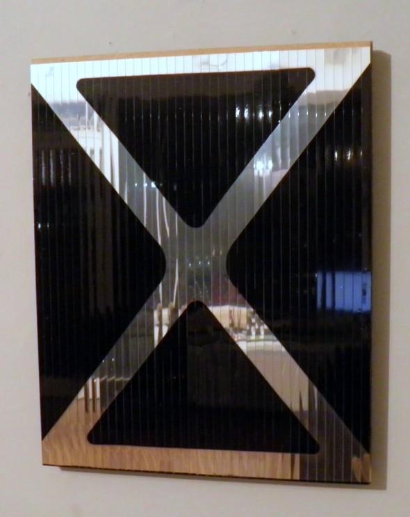 """""""M L R"""" Siegelfolie & Spray auf Holzplatte 50 x 40 cm, 2006, sig."""