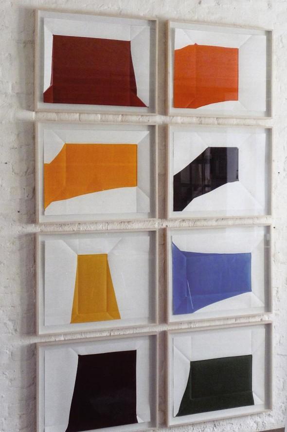 Rainer Splitt Paperpools Aryl auf Fabriano, 50x70cm, 2013