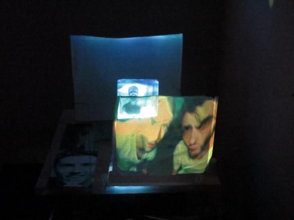 Luca Carboni & Gabriel Da Costa Modell für Liveperformance at Werkstattgalerie