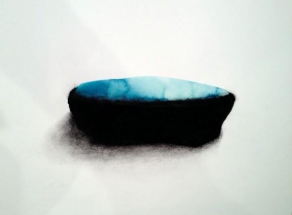Caroline Le Méhauté Aquarell und schwarze Erde auf Papier, 30x40cm, 2012