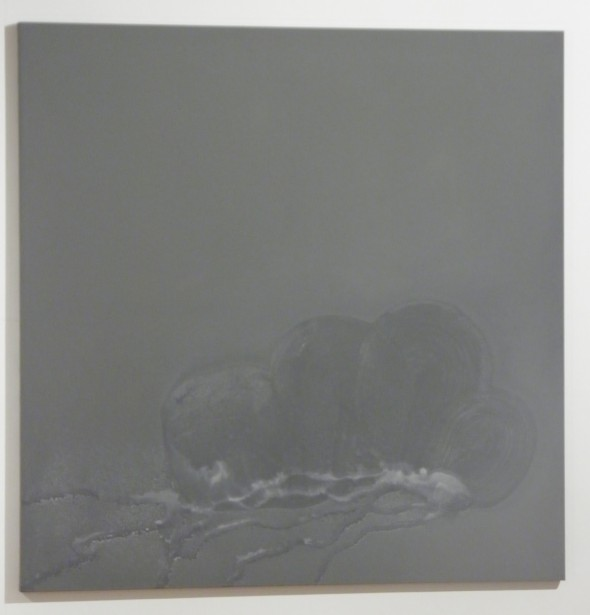 Daniel Lergon Zink2 oxidiertes Zink auf Leinwand, 160x160cm, 2014