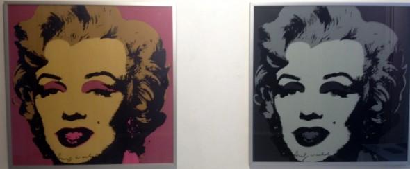 Andy Warhol Marilyn-Siebdruck, 80x80cm,signiert orange/pink, grau/schwarz