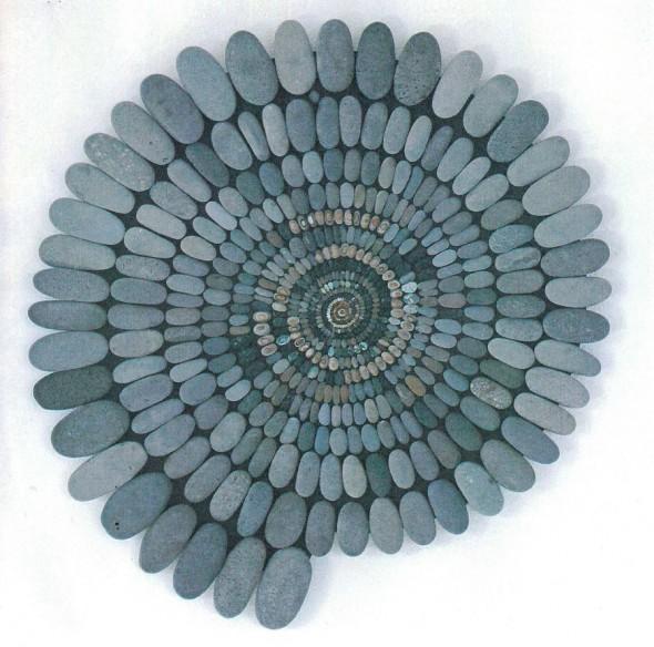 Mary Bauermeister Steinzeitkreissäge Steine, Vulkanerde, Durchmesser 85cm