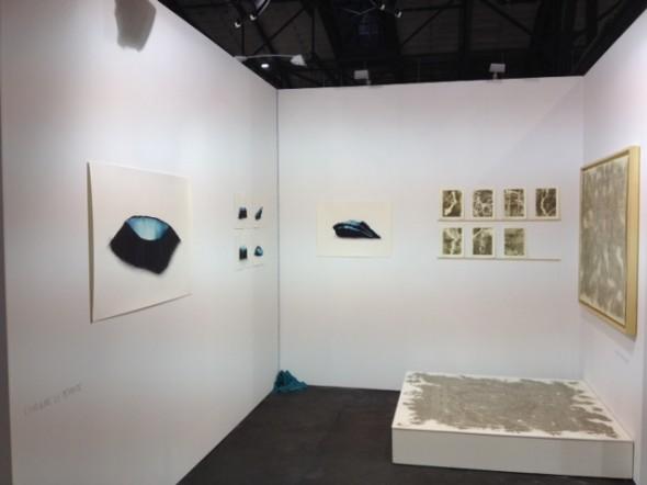 Messestand B12 auf der POSITIONS Kunstmesse in der Arena Treptow Caroline Le Mehaute und Gianfranco