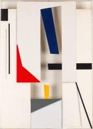 Paolo Ghilardi Architettura, 1996 collage dentro plexiglas, 53x38cm