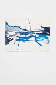 Hella Berent Weltunruhe X Gouache auf Bütten Papier, 56 x 76 cm, 2012