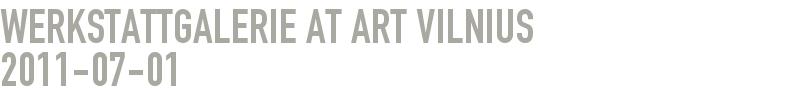 Werkstattgalerie at Art Vilnius